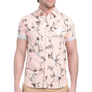 NWT DENIM & FLOWER Men's floral print shirt